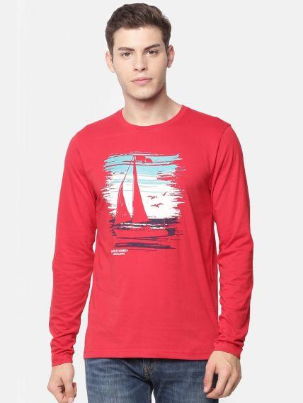 Printed Full Sleeve T-Shirt (Pack of 2)