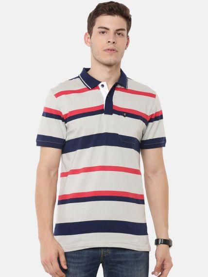 Premium Striper Polo - With Pocket