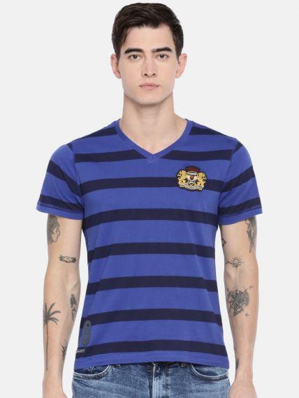 Stripes Printed Fashion Henley Neck 100% Cotton