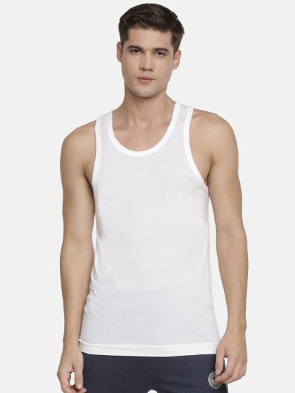 Elexus Ribbed Stretch Classic Vest (Pack of 2)