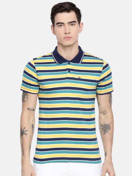 Eco Striper Polo T-Shirt - With Pocket