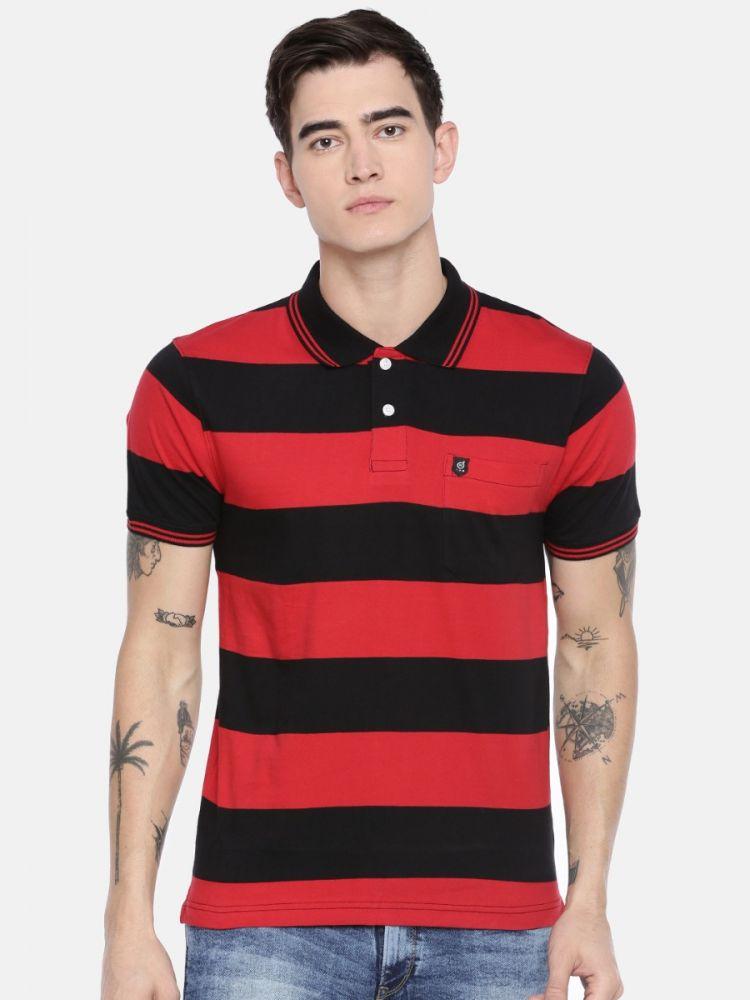 Premium Striper Polo T-Shirt-With Pocket