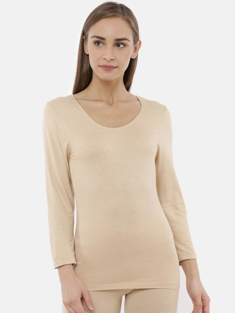 Deep Neck 3/4th Sleeve Long Top