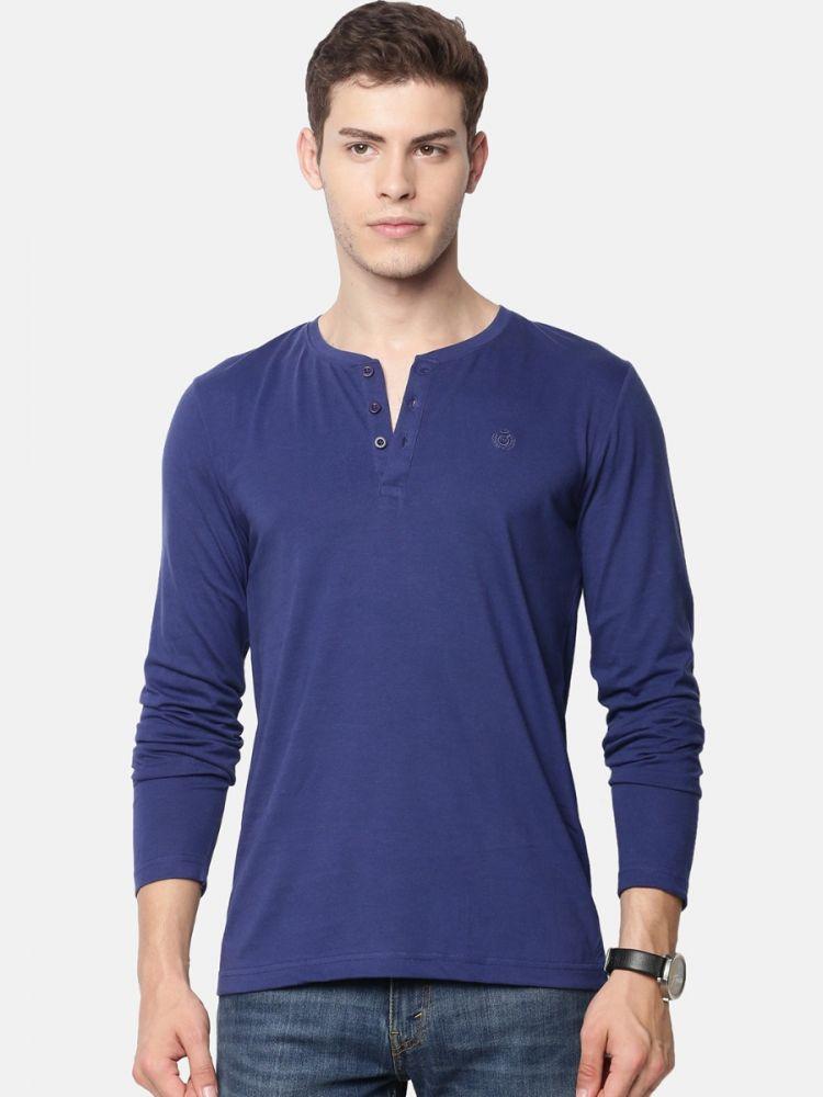 Full Sleeve Henley Neck T-Shirt (Pack of 2)