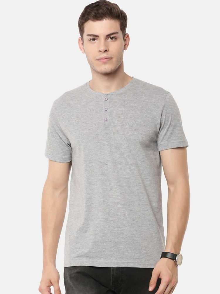 Smartz Basics Round Neck T-Shirt Grey Melange/White (Pack of 2)