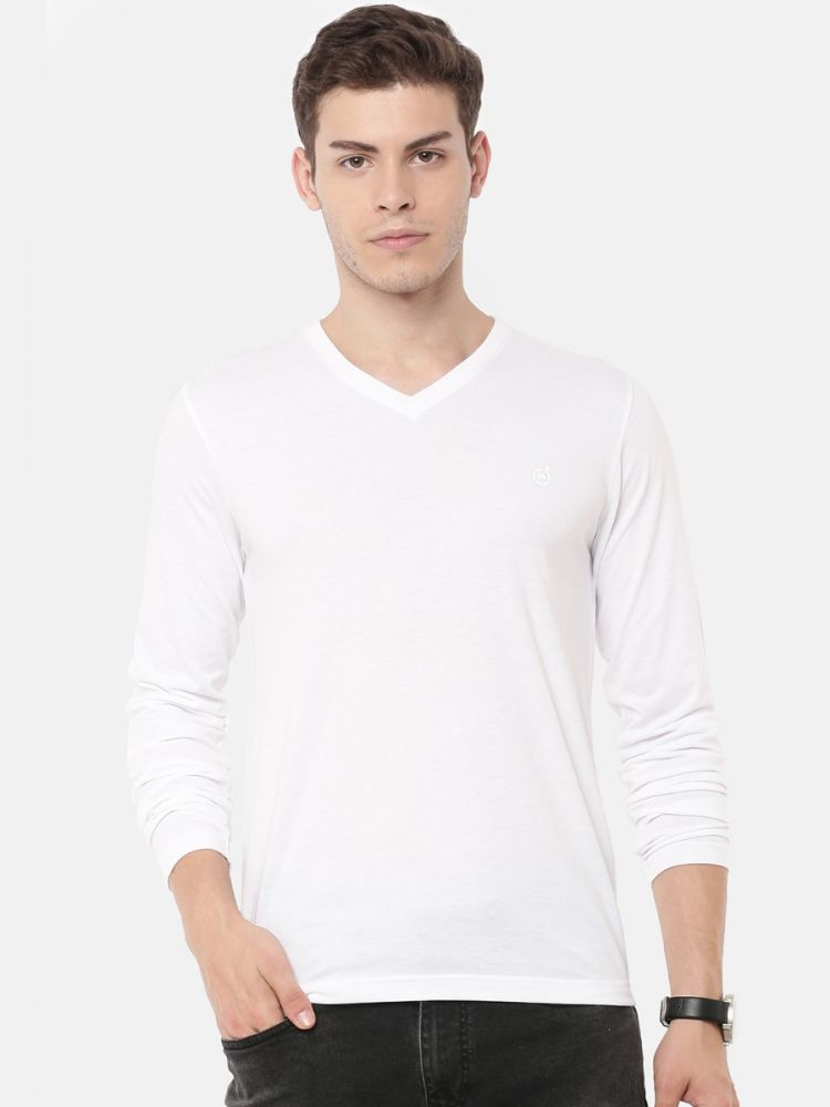 Full Sleeve V-Neck T-Shirt (Pack of 2)