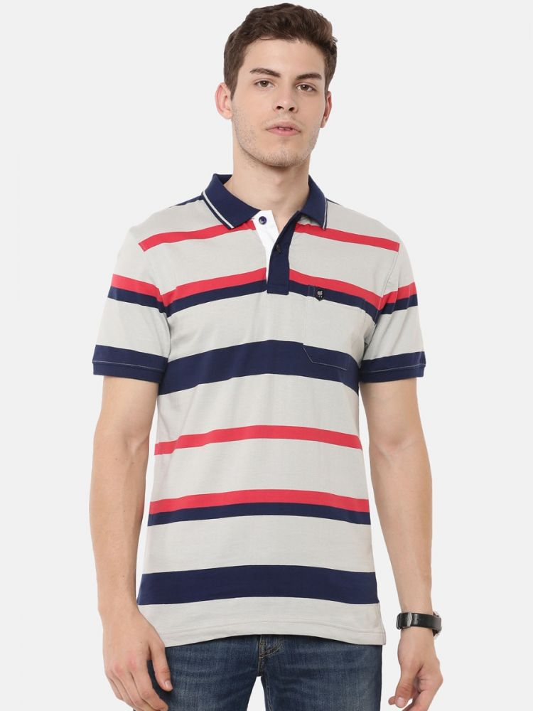 Premium Striper Polo - With Pocket