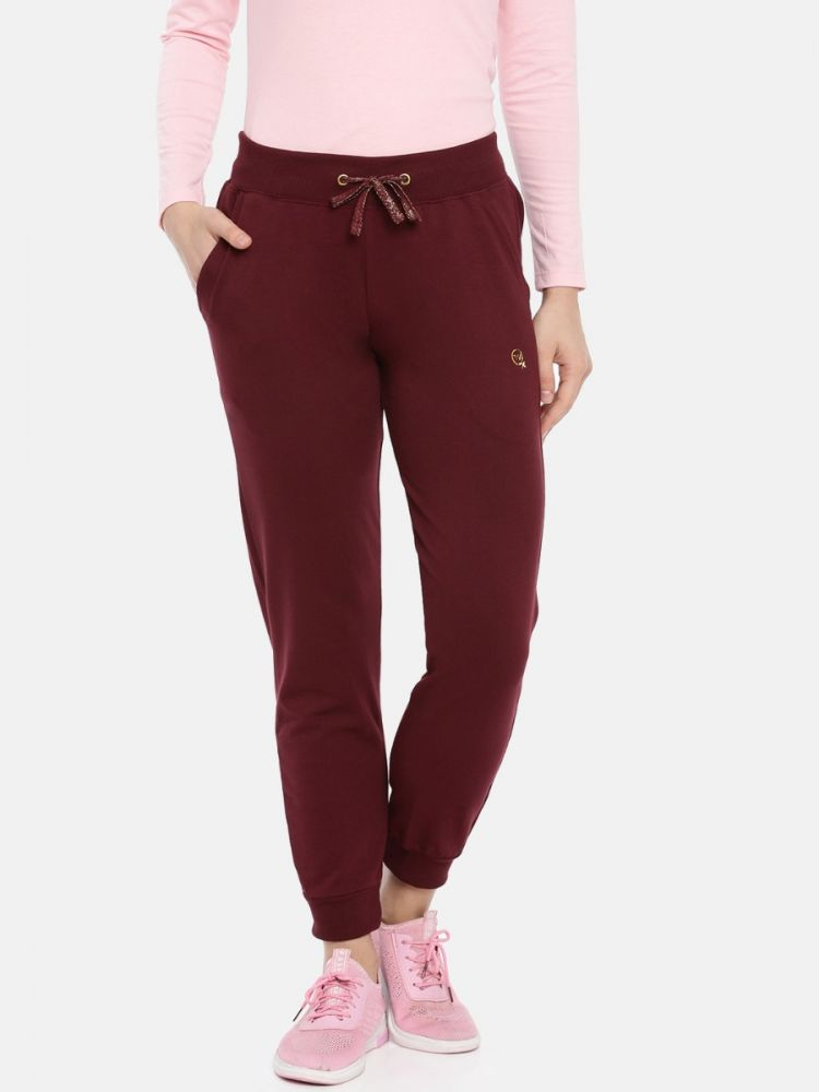 Active Plain Pants with Zip