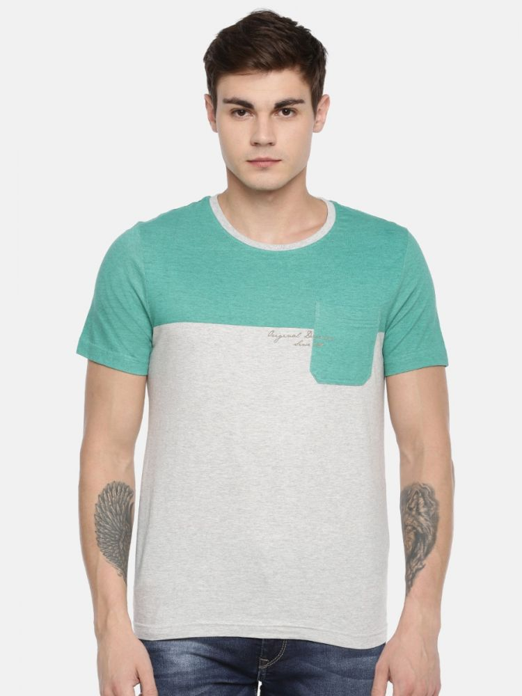 100% Cotton Printed Fashion Round Neck