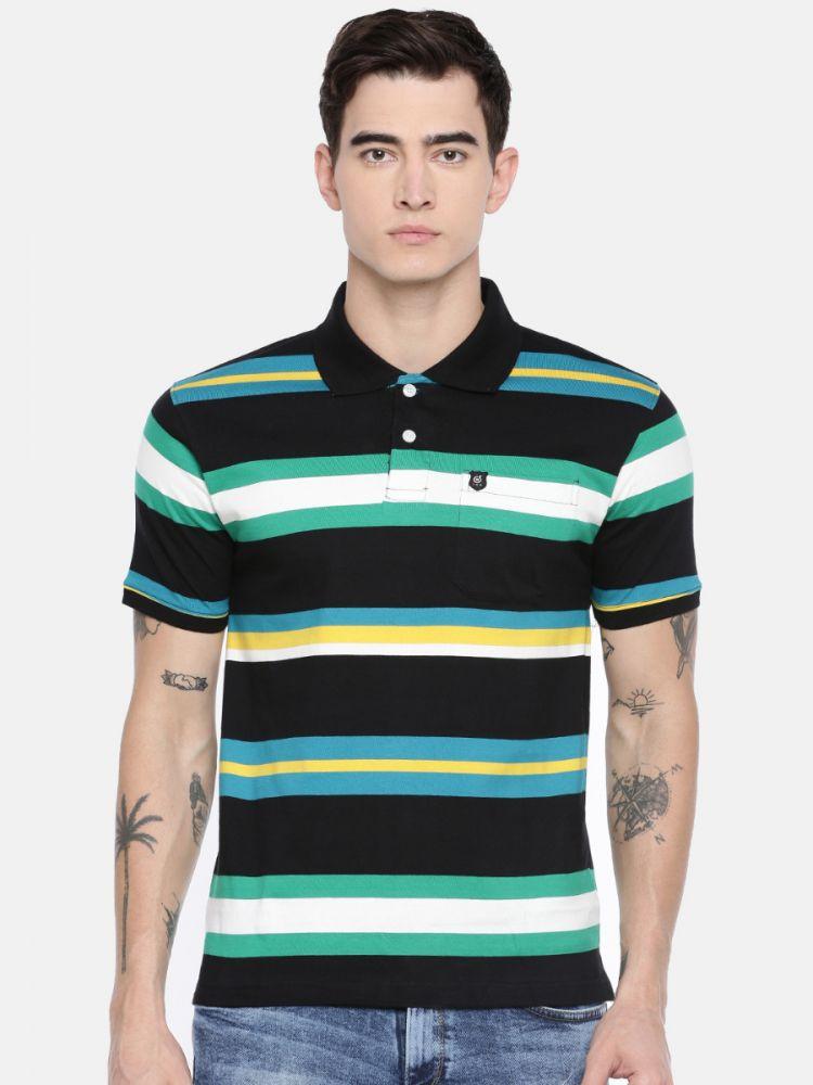 Premium Striper Polo T-Shirt - With Pocket