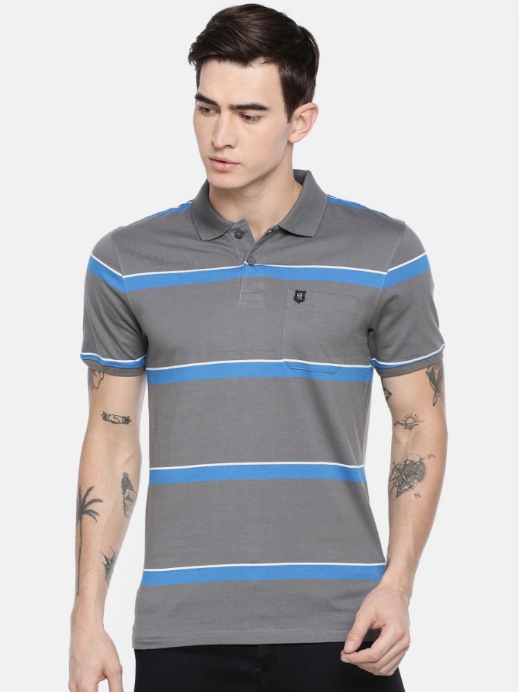 Classic Striper Polo T-Shirt - With Pocket